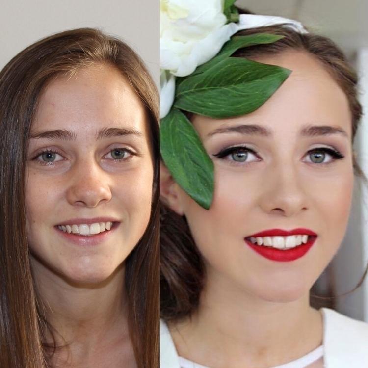 makeover#redlips#porcelinskin#flawlessskin - meagand | ello