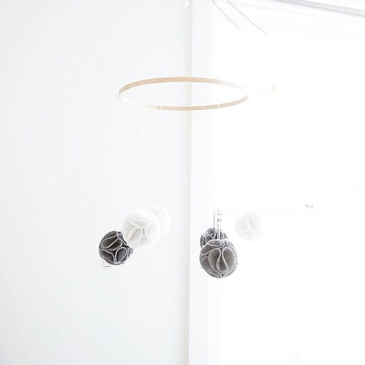 release FELT POM mobile. simple - babyjonesdesigns | ello