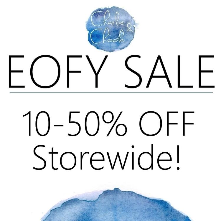 EOFY sale days purchase, receiv - charlieandchook | ello