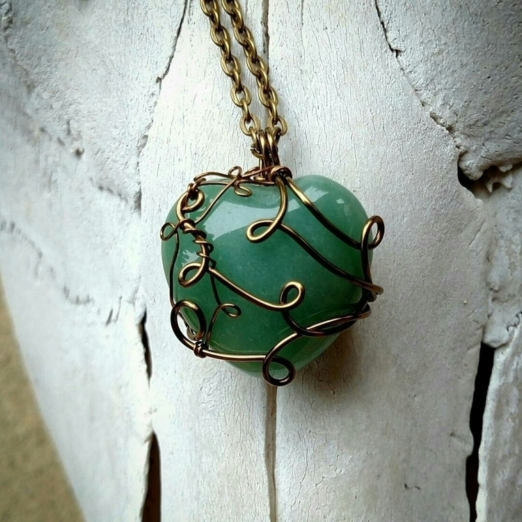 FLASH SALE:small_blue_diamond - adventurine#crystalheart#bronze#jewelrysale#invokegaia#nature_obsession#motherearth#crystalsforsale#crystallove#crystalsale#namaste#goodvibes#etsysale#localartist#invokegaia#etsy#wirewrappedpendant#bohemian#crystals#hippiespirit#gypsysoul#divinefeminine#smallbusiness#crystalhealing#mothernature#healingcrystals#madewithlove#nature - invocations_to_gaia | ello