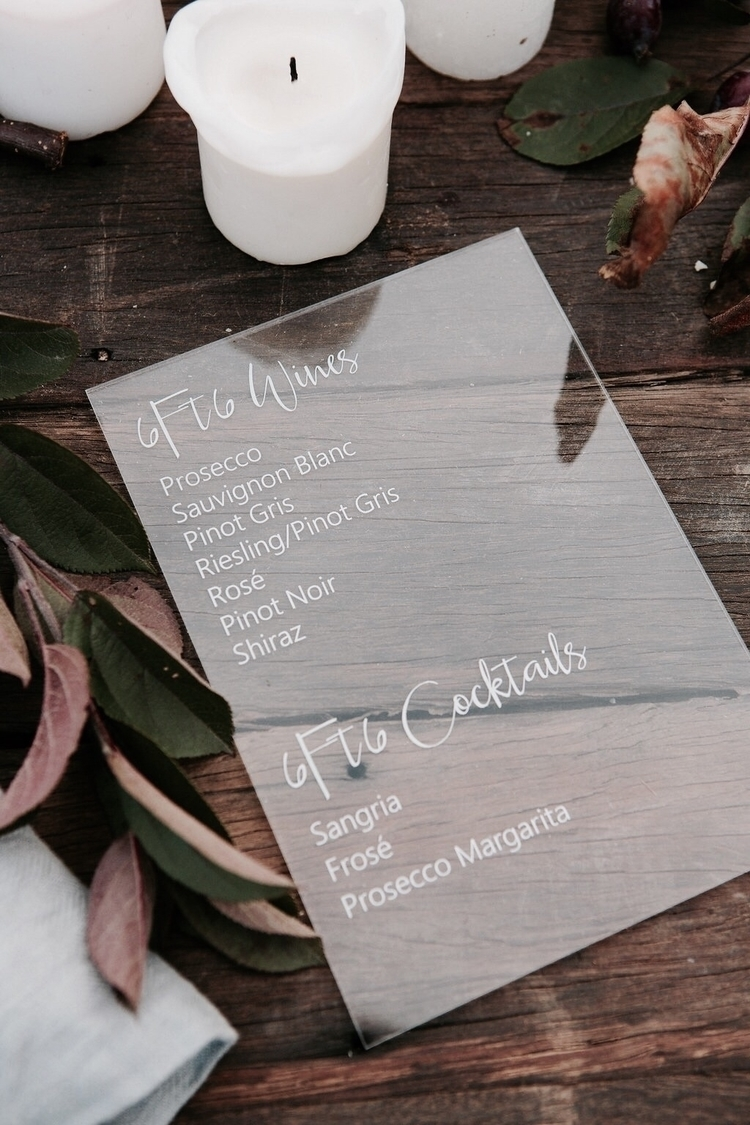 Acrylic Bar Menus beautifully s - luxelaserco | ello