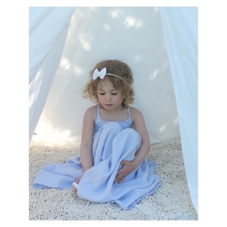 Lace trimmed breezy blue linen  - jacquiesews | ello