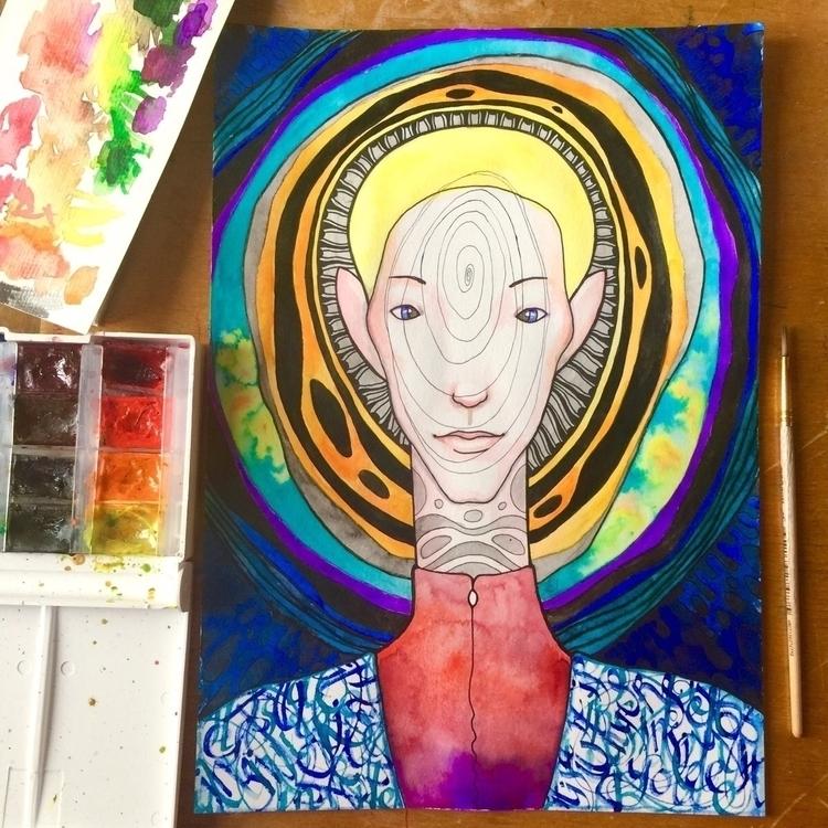aquarelle, watercolor, experiment - evesolar | ello
