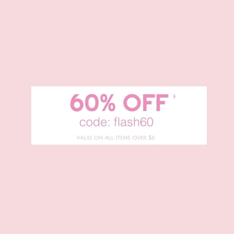 heard 60% items $6. code FLASH6 - minimalistjewellery | ello