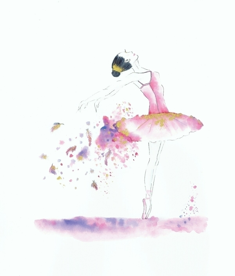 Mimi Ballerina print website - ballerina - bluegingerdesign | ello