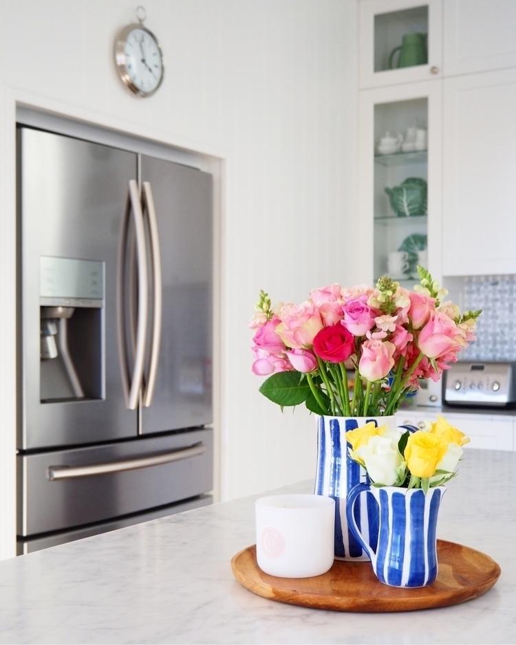 Beautiful blooms striped vases  - mumlittleloves   ello