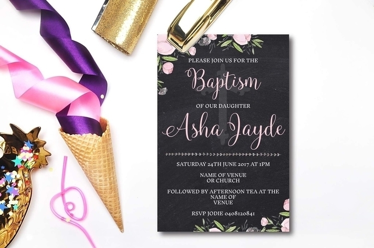 Baptism Invitation :heart:️ - dohertydesign - dohertydesign | ello