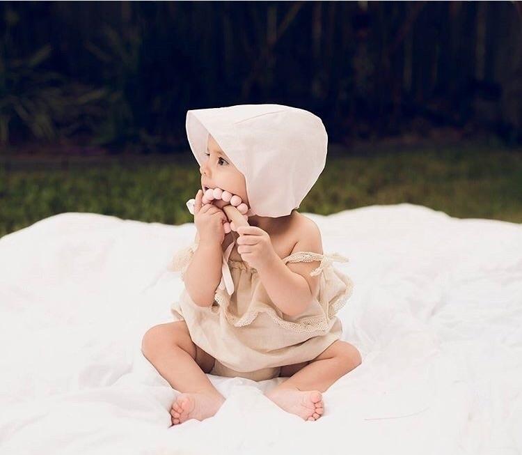 sweet pink Charlotte bonnet. st - littlemuse | ello