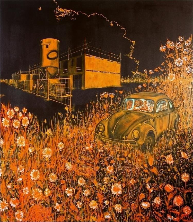 Painting: 'Flowers Saturn' Acry - baswiegmink | ello