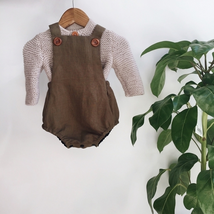 Olive overalls stone knit perfe - adelynscreations | ello