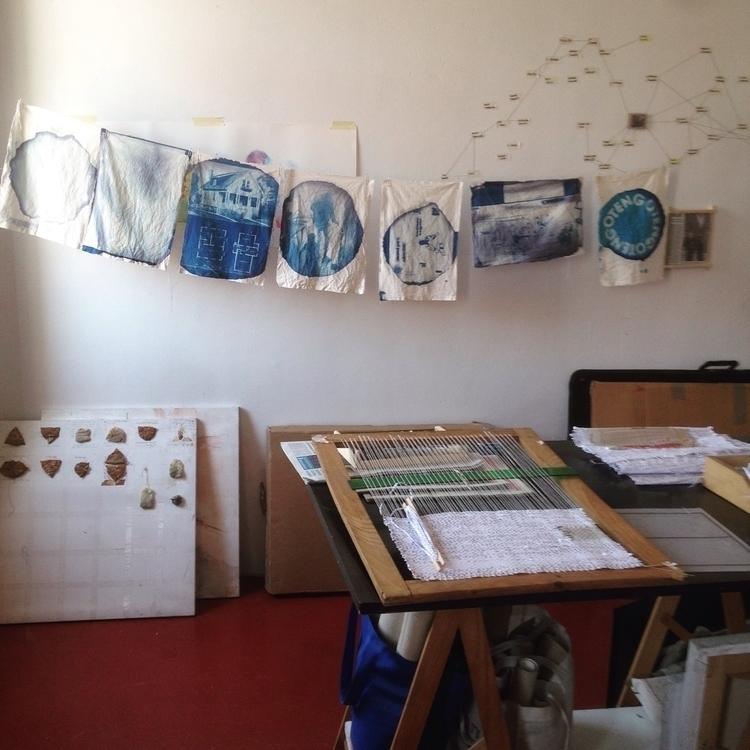tests weaving - cyanotype, textile - hauering | ello