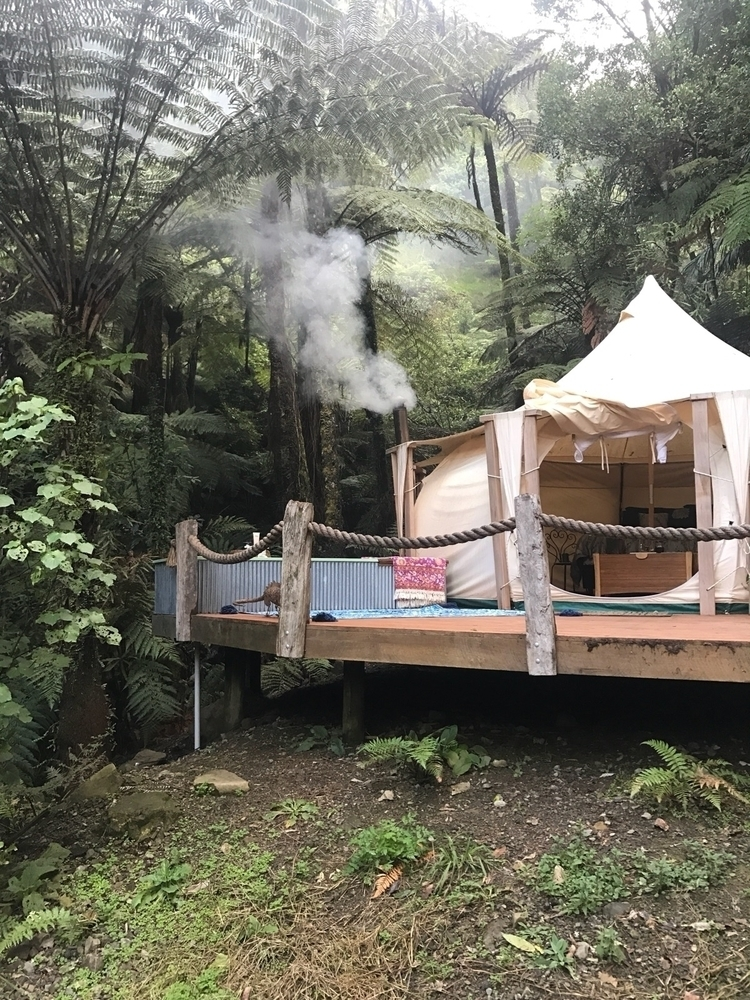 Waterfall mountain glamping per - little_boho_tribe | ello