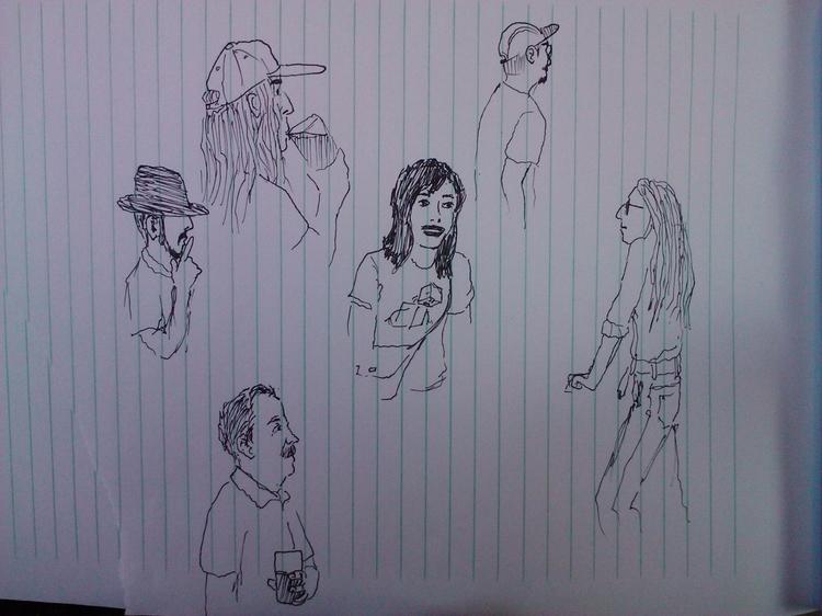 Sketching random people concert - manlybrian | ello