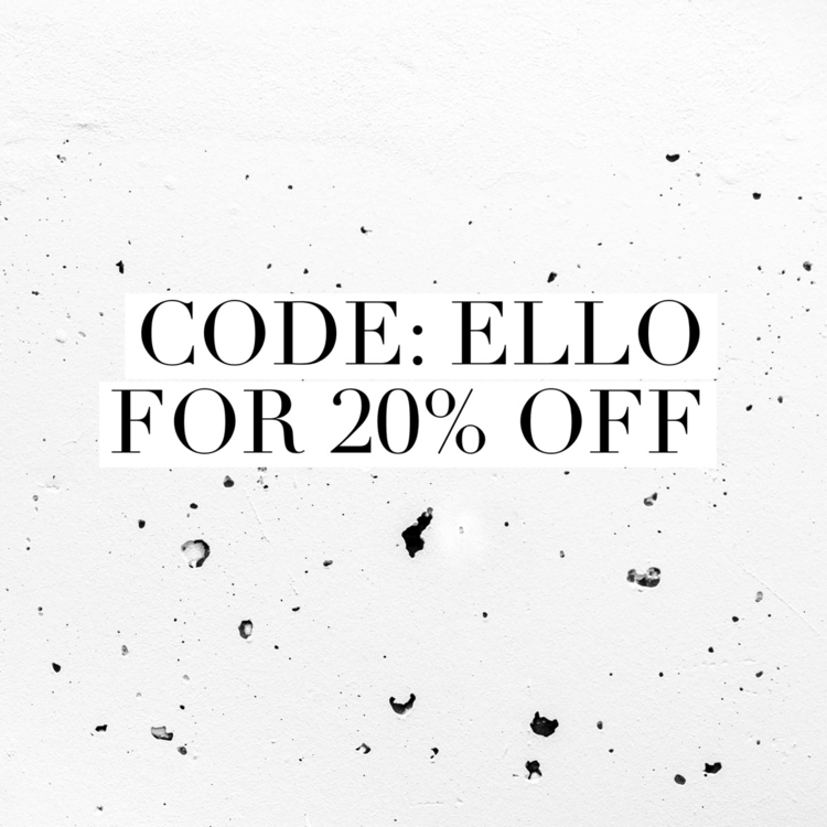 code: ELLO checkout 20 - wildchase | ello