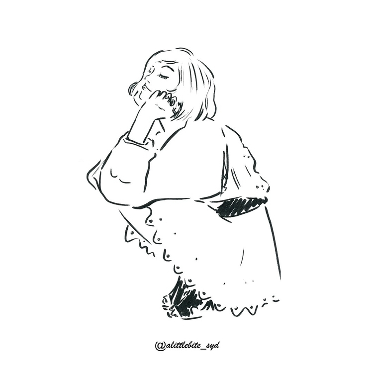 Late night hustling! awake  - illustration - alittlebitebygrace | ello