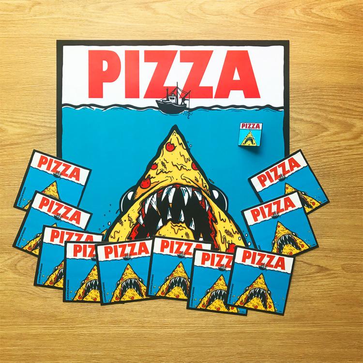 Pizza Jaws Meal Deal! 12″ print - samuelbthorne | ello