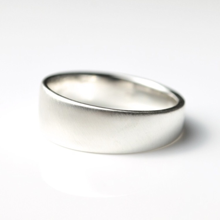 Tapered Silver Ring Band - life - mineralrare | ello