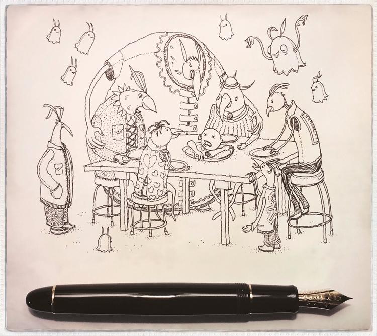 drawings giant, Art School. tru - junkyardsam | ello