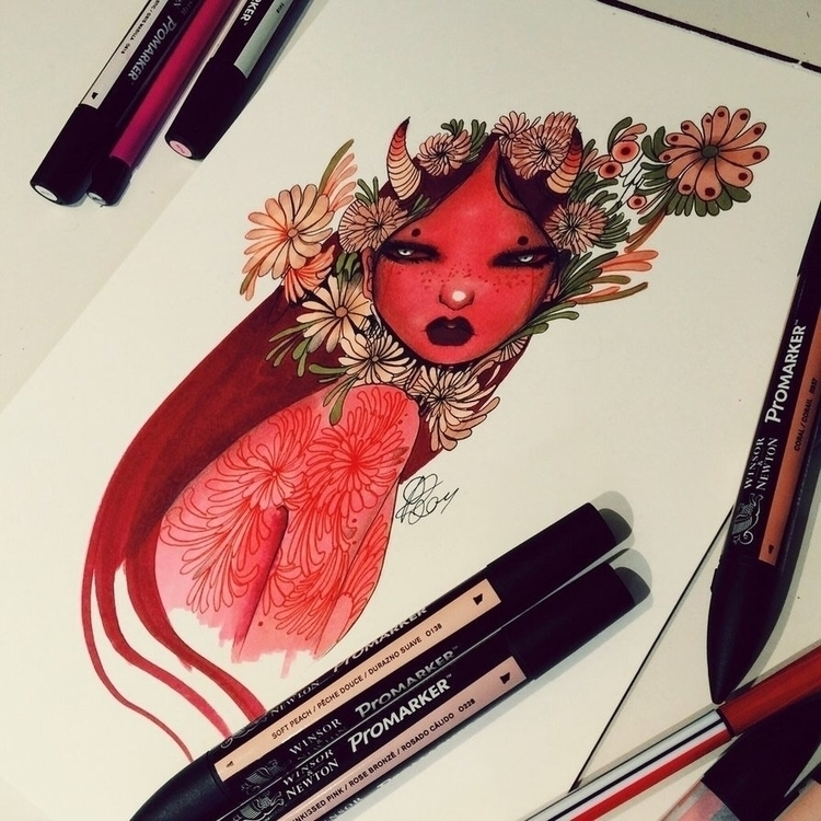 'Red woman' piece art auction m - lalasdreambox | ello