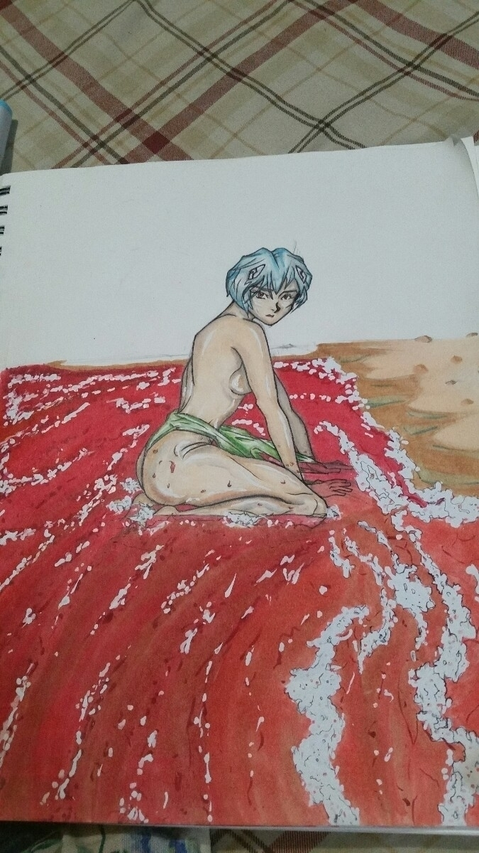 Rei Ayanami swimsuit special - wip - phillipchamberlinart | ello