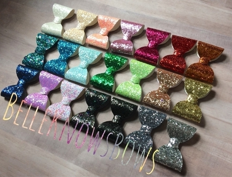 Bows Days! chunky glitter bows  - belle_knows_bows | ello