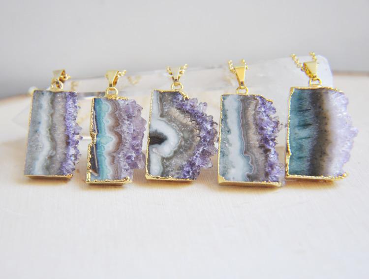 purple, amethyst, necklaces, necklace - fawinginlove | ello