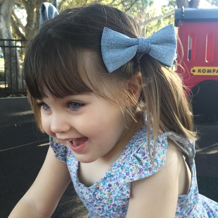 Cutie pie Denim bows. bows repu - flosscreations | ello