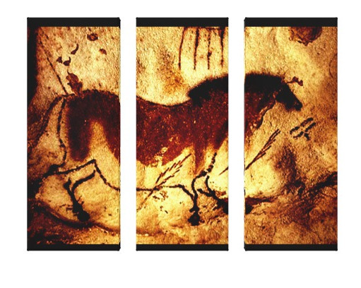 Lascaux Horse Panel - asoknath   ello