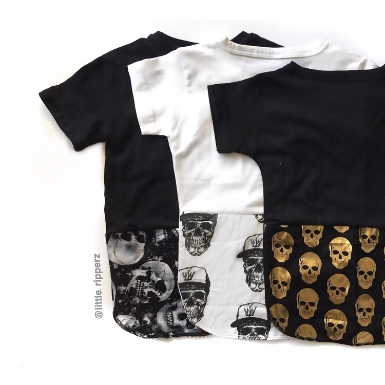 Loving skull scoop tees - skulls - littleripperz | ello