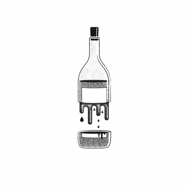 Bottle - dotwork, blackandwhite - iampommes | ello