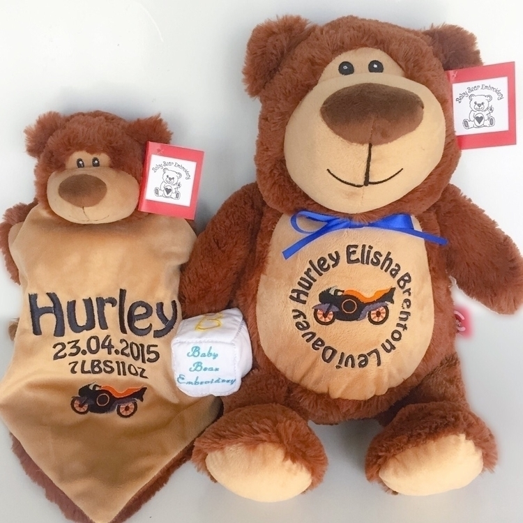 love matching teddy set Hurley  - babybearembroidery | ello