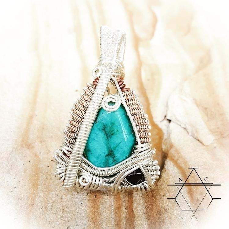 Sterling silver Amazonite Garne - nativecrystalarmour | ello