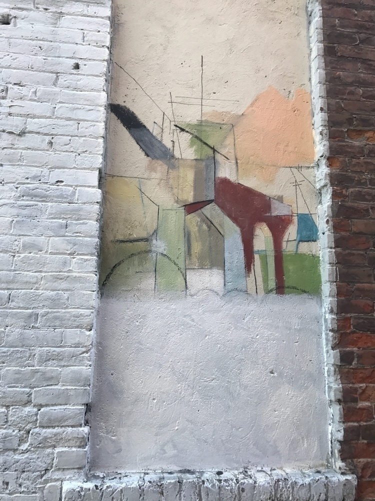 Wall mural, Missoula MT, artist - zasra | ello