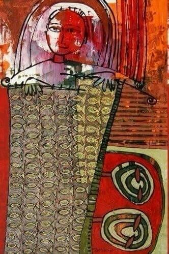 "River"" (""Upė"") acrylic canvas 1 - jolitacc | ello"