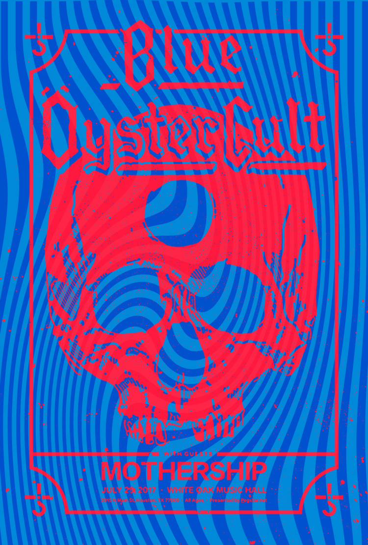 Poster design Blue Oyster show  - shelbyhohl   ello