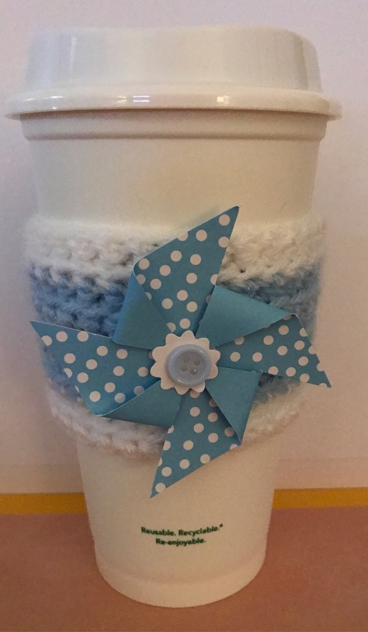 Blue Pinwheel Cozy - coziesandcrafts | ello