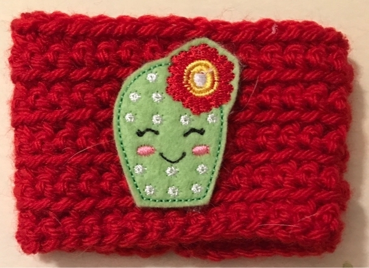 Bright Red Cozy Happy Cactus - coziesandcrafts | ello