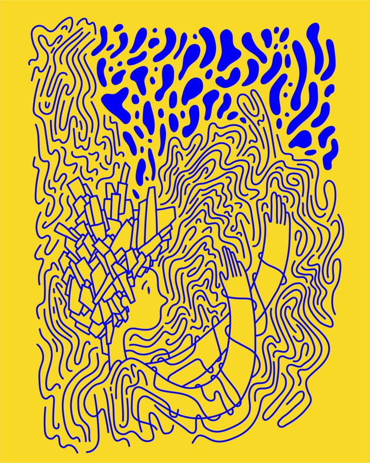 Cosmic King - illustration, illustrator - heybop | ello