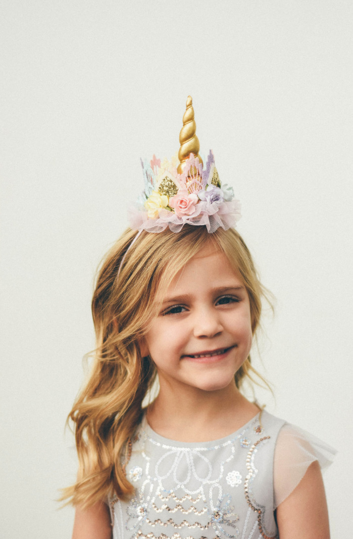 Unicorn flower lace crown headb - lovecrushcrowns | ello