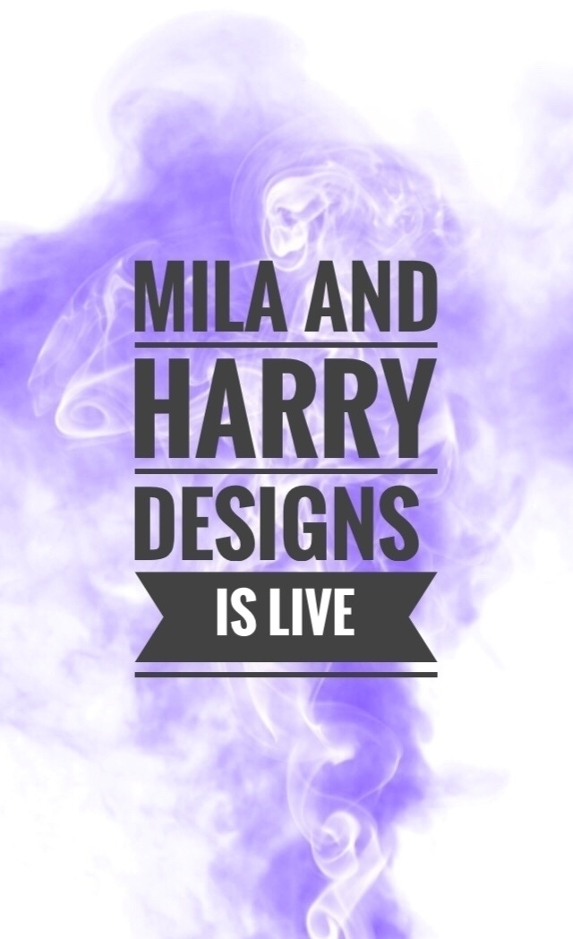 happy announce website LIVE! Ha - milaandharrydesigns | ello