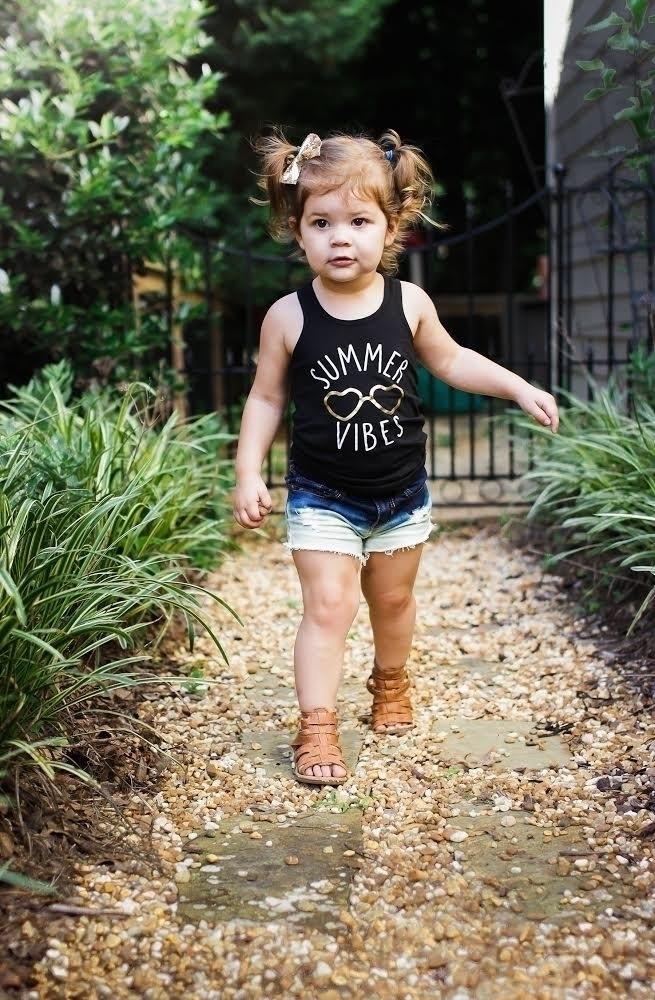 Summer loving babe vibes tank p - littlewarriorsapparel | ello