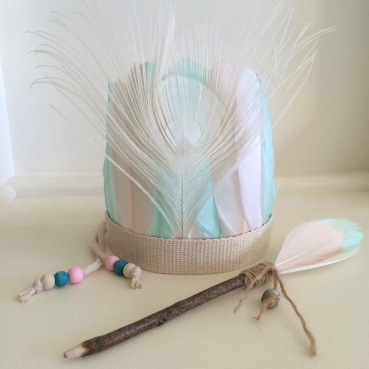 girls pastel tribal feather hea - atgrannysplace | ello