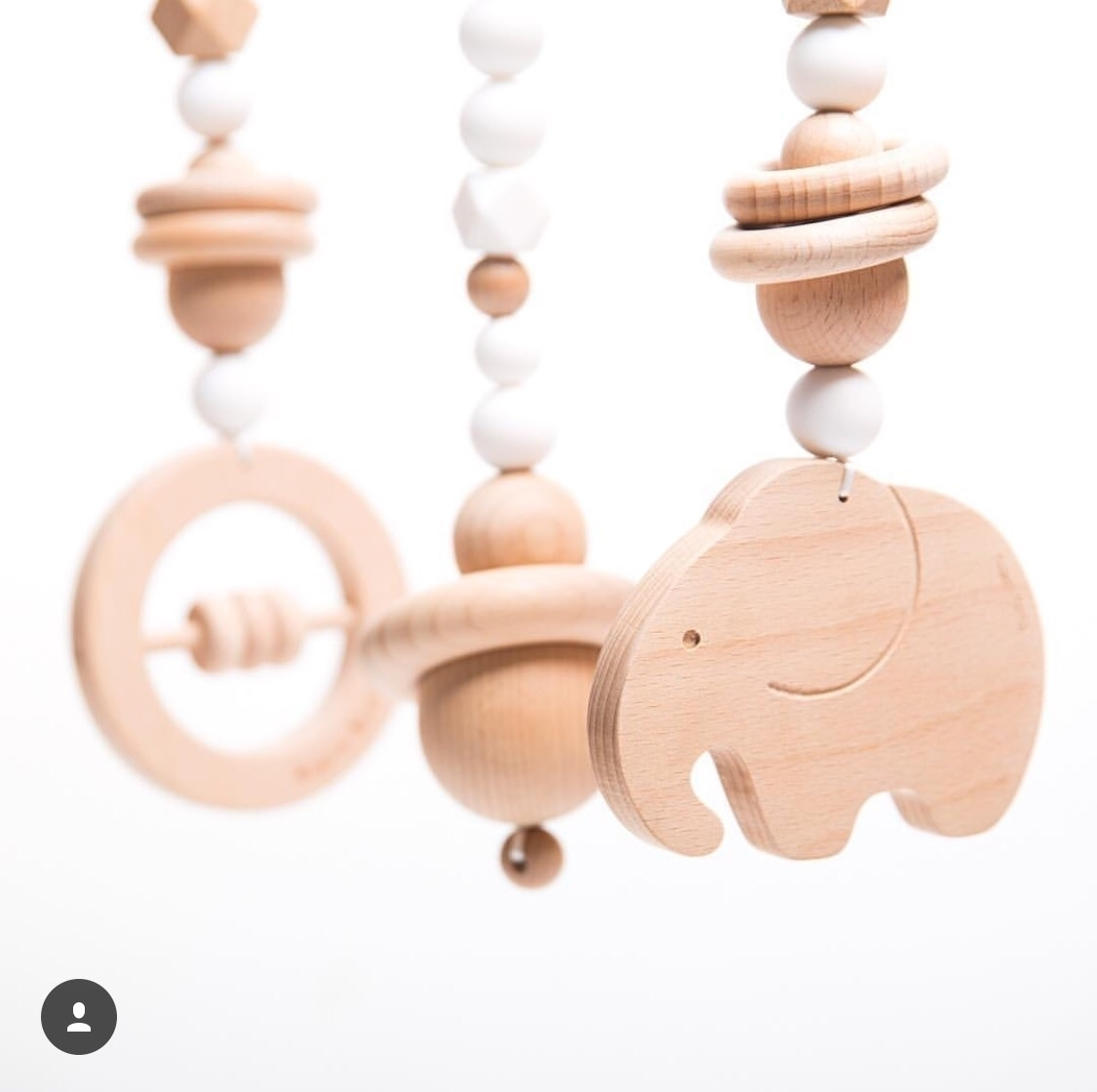 Wild Baby Gym Toy Set Snow Whit - modernmonty | ello