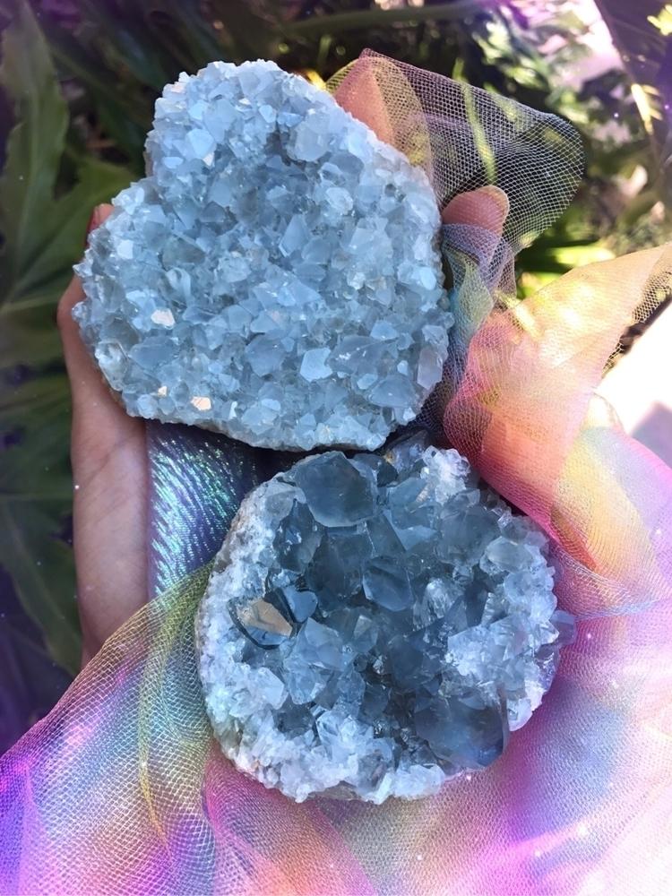 2 Celestite clusters magnificen - amarisland | ello