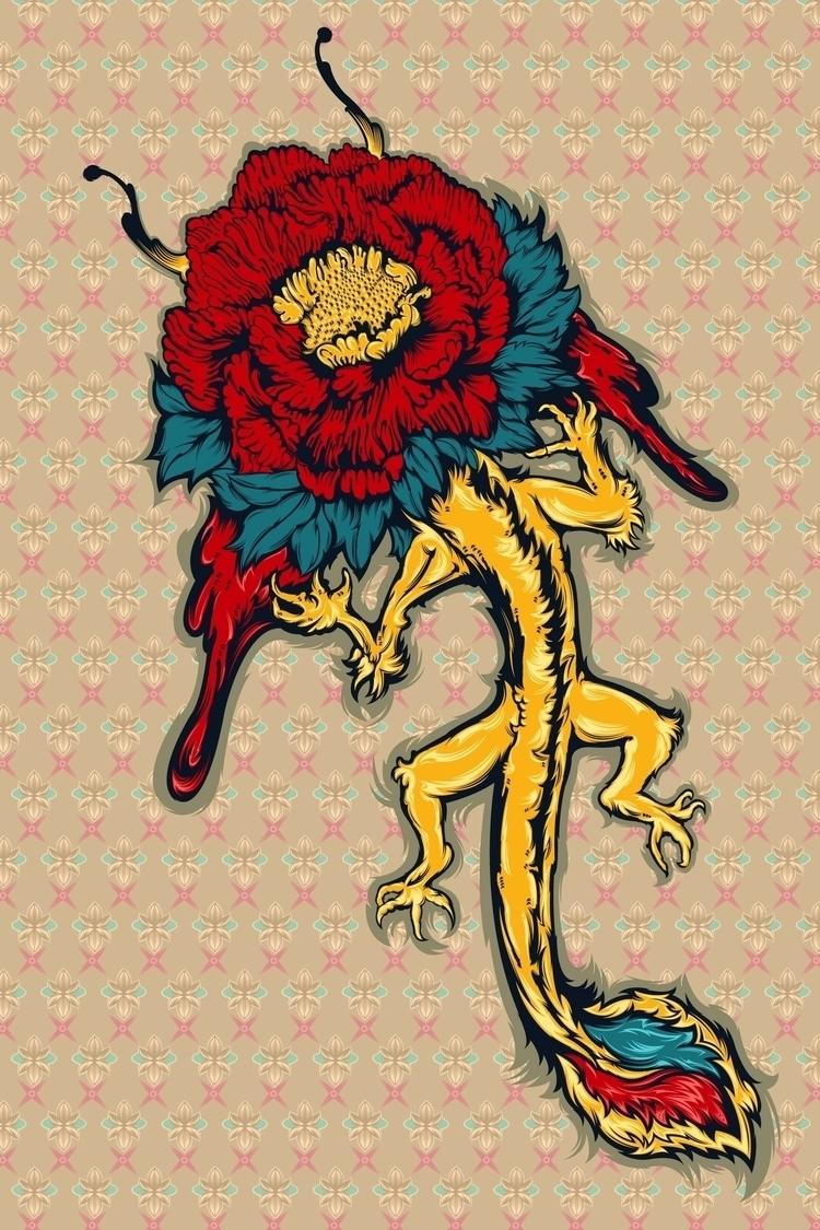 Dragon flowers - kzengjiang, art - kzengjiang | ello