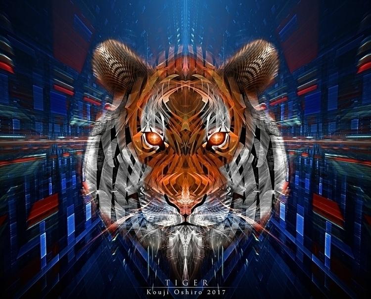 Tiger - digital, fractal, apophysis - koujioshiro | ello