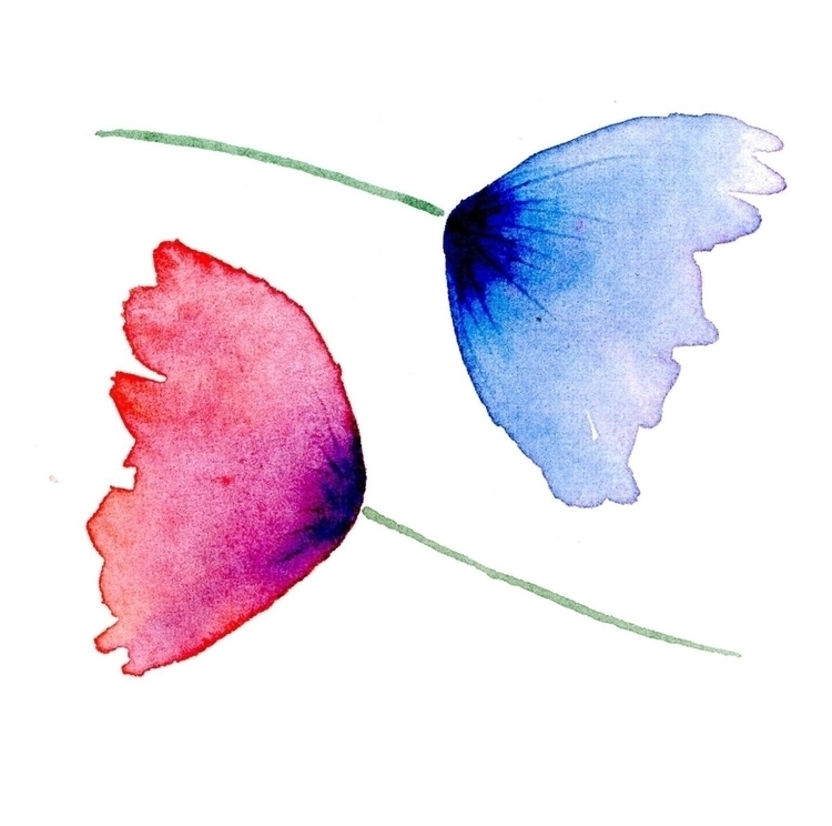 Loose watercolour flowers - worldofmik | ello