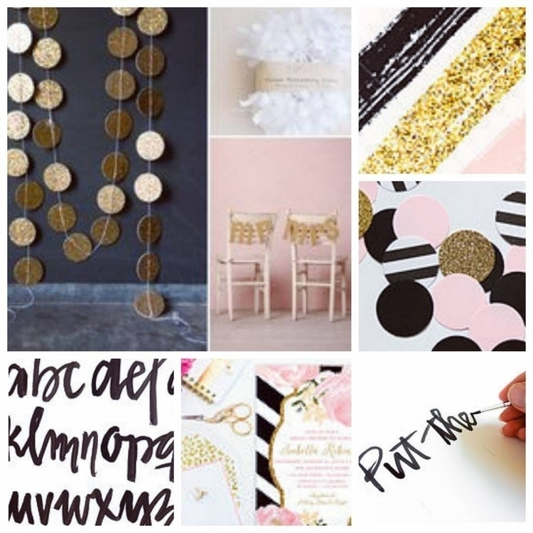 Black, Gold Pink moodboard vibe - ink_and_brand | ello