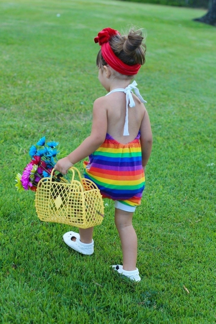Rainbow Bubble Rompers - tinyfoxthreads | ello