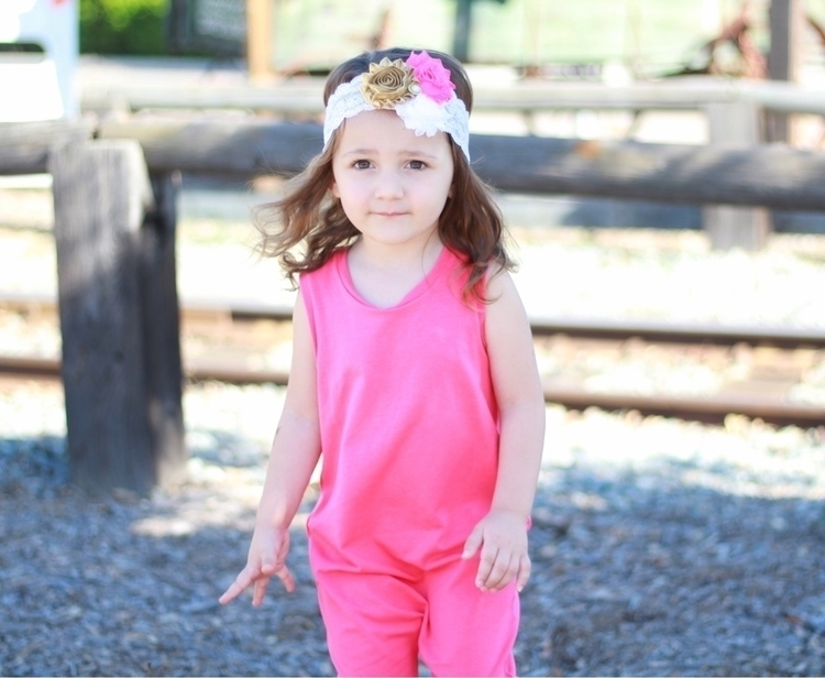 Pretty pink! Headband: Romper:  - melina_and_adrianna | ello